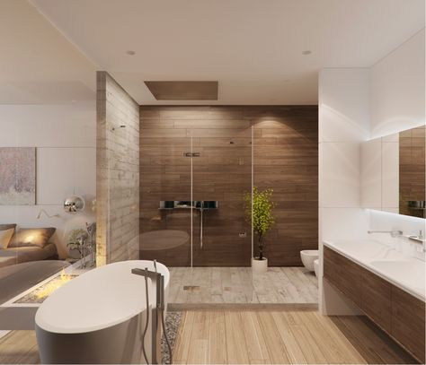 Salle de bain #Bathroom #Douche #Shower #Italienne #Bain #Bath - carrelage marron salle de bain
