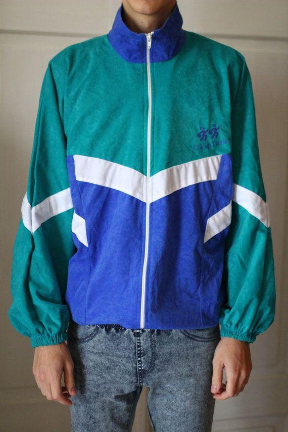 Mens Track Jacket Sport Jacket Smooth And Soft Large Oversized Vintage Jacket Track Jackets Heavy Knit Sweater Jackets