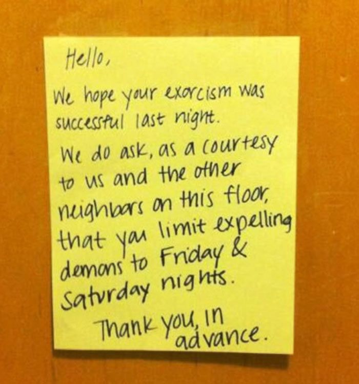 These 32 Hilarious Letters Written To Annoying Neighbors Will Make