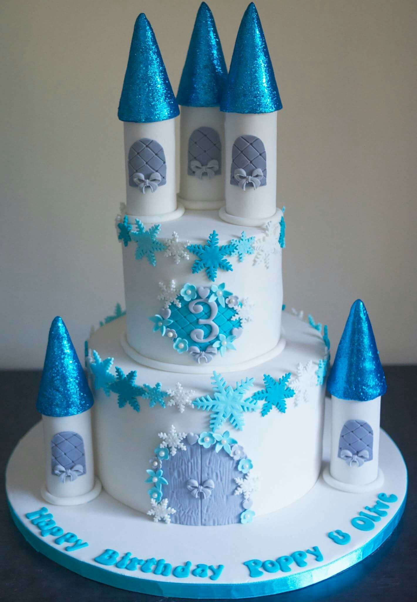 Miraculous Frozen Castle Cake With Images Castle Cake Elsa Birthday Cake Funny Birthday Cards Online Overcheapnameinfo