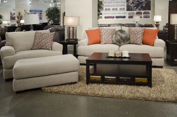 Jackson Furniture   Ava 3 Piece Living Room Set In Cashew    4498 03 01 10 CASHEW
