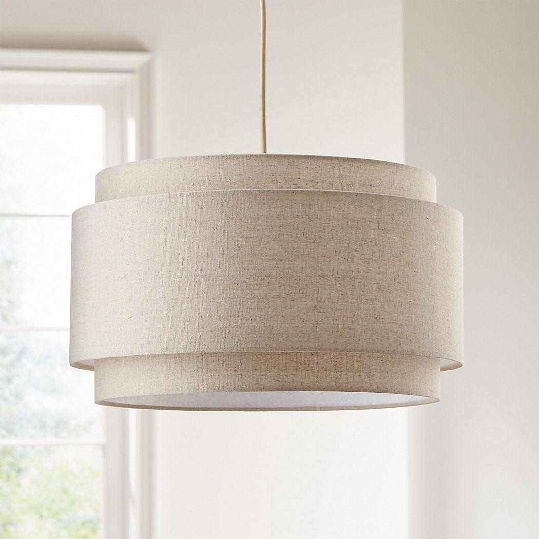 Avery Linen Double Drum Pendant Light #pendantlighting
