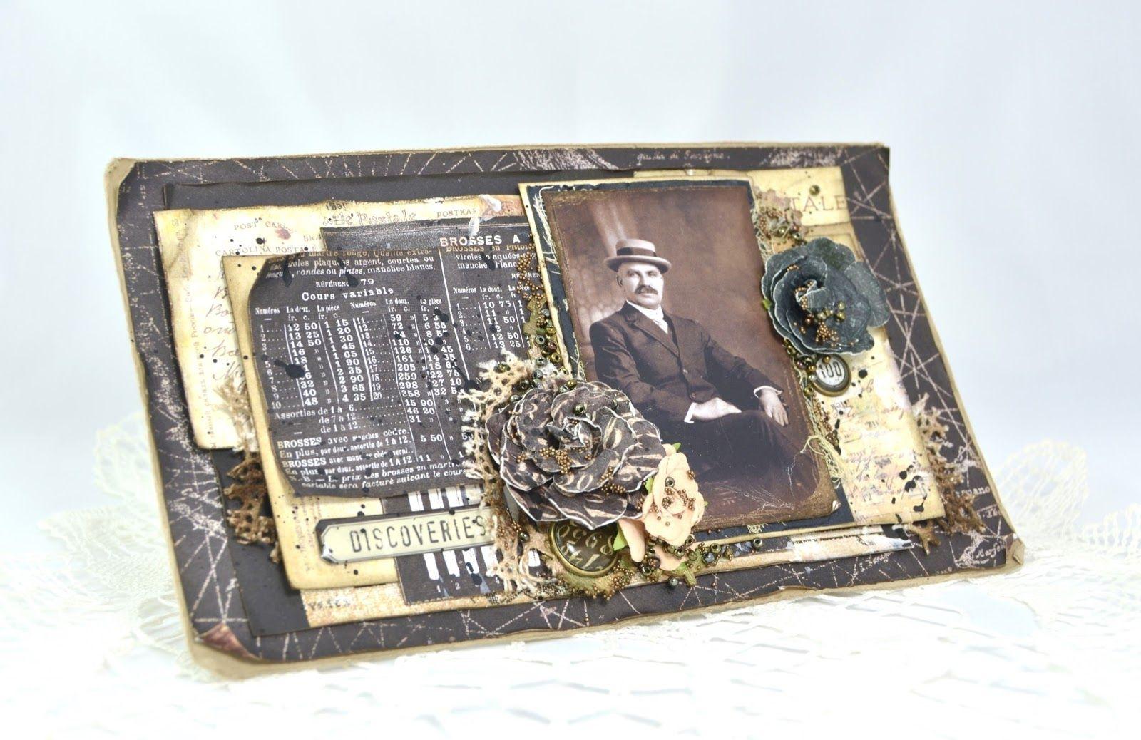 Cathrines hjerte: Maskulint vintagekort