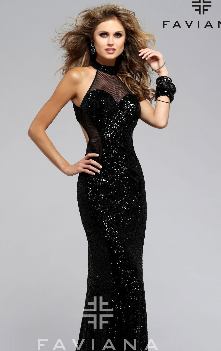 Faviana evening ball gowns pinterest fishnet bodice and