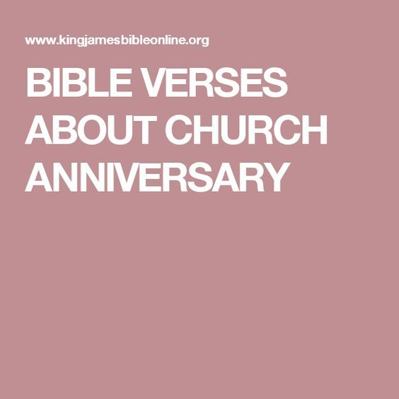 Bible Verses About Church Anniversary Verses