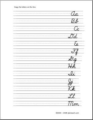 Handwriting Practice: Cursive Letters Aa-Zz for left-handers (DN ...