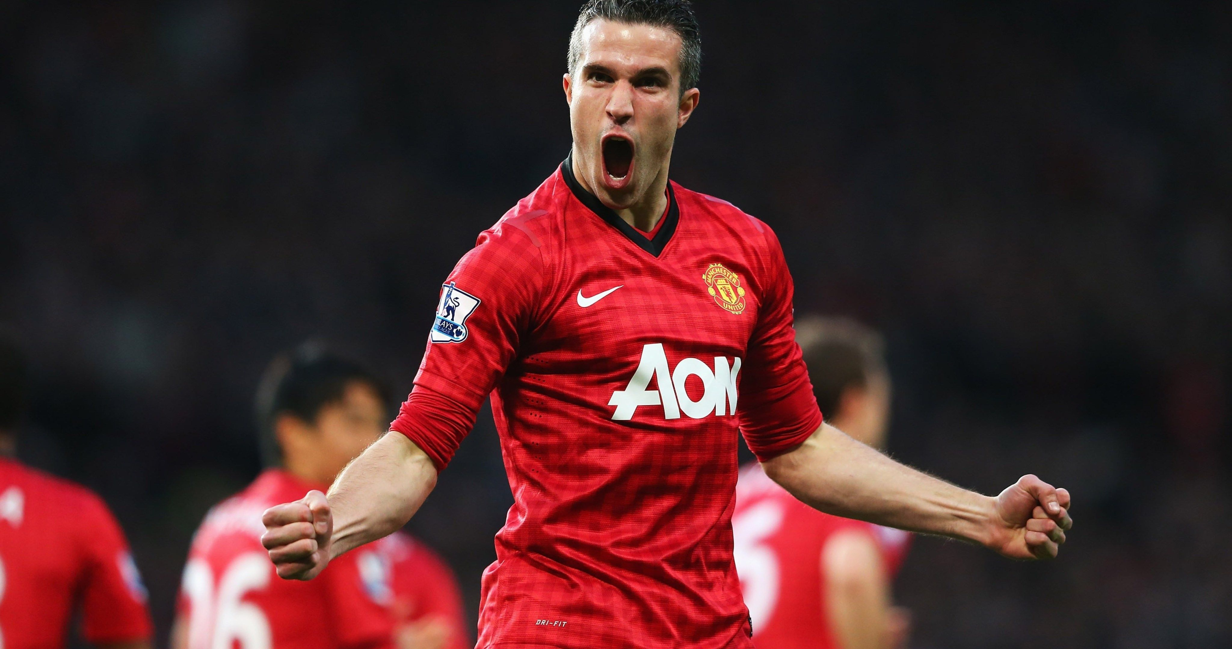 robin van persie manchester united 4k ultra hd wallpaper
