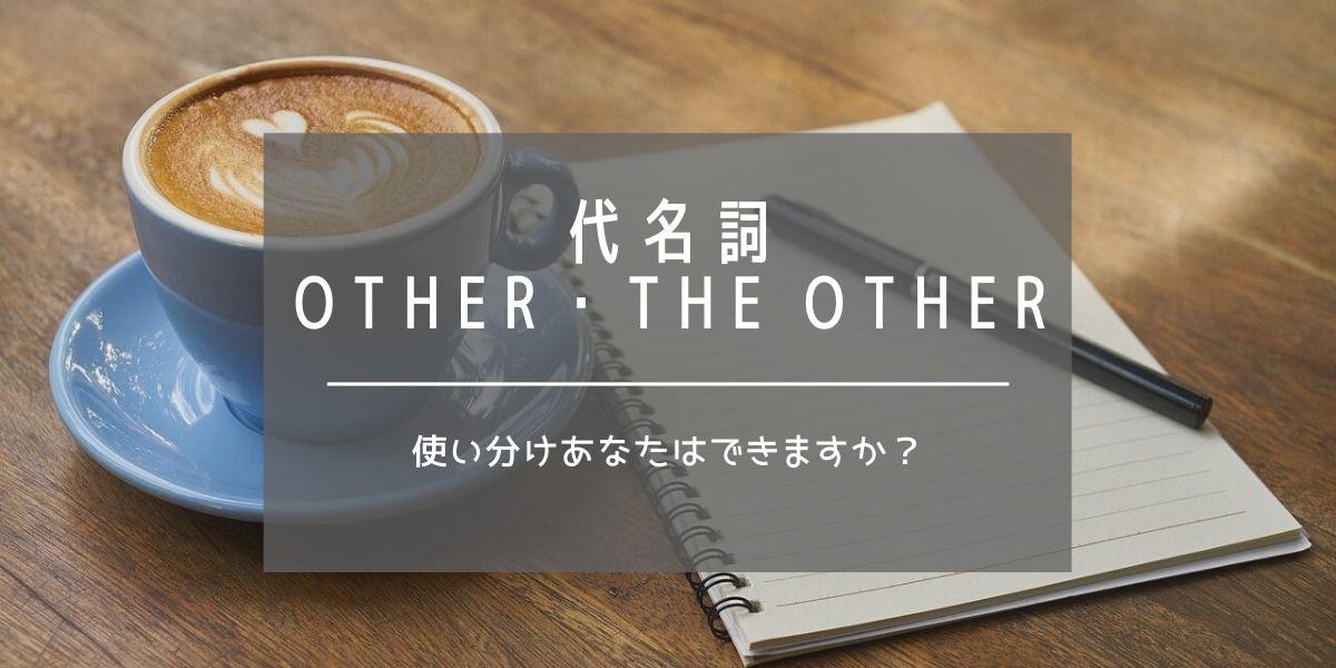 英語 The Other Others The Others Another違い 使い分け 図解解説 小学生向け 初心者 解説 現在完了形