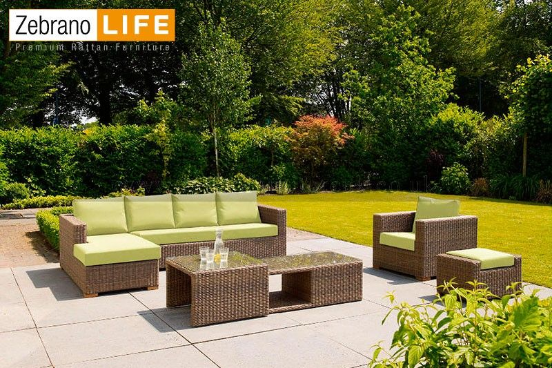 This amazing rattan garden sofa suite is part of our Zebrano Life C ...