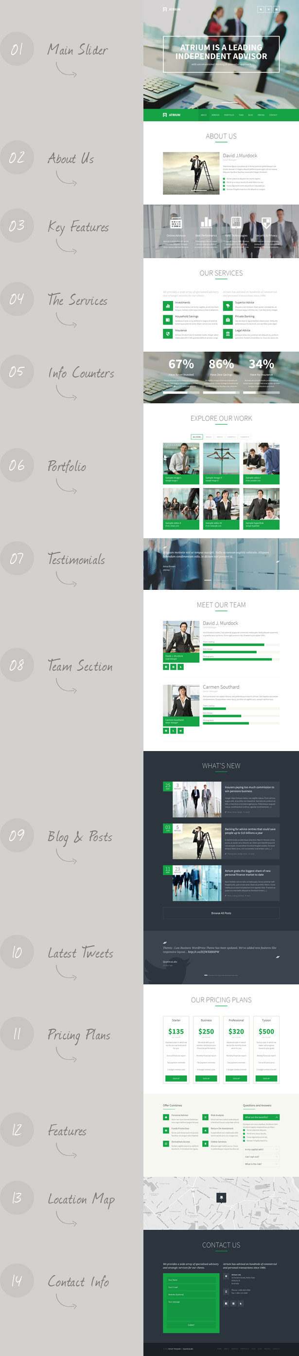 Check The Changelog Atrium – Responsive Corporate One Page Template Is A  Parallax, Responsive Corporate One Page Template, Suitable For Business Or