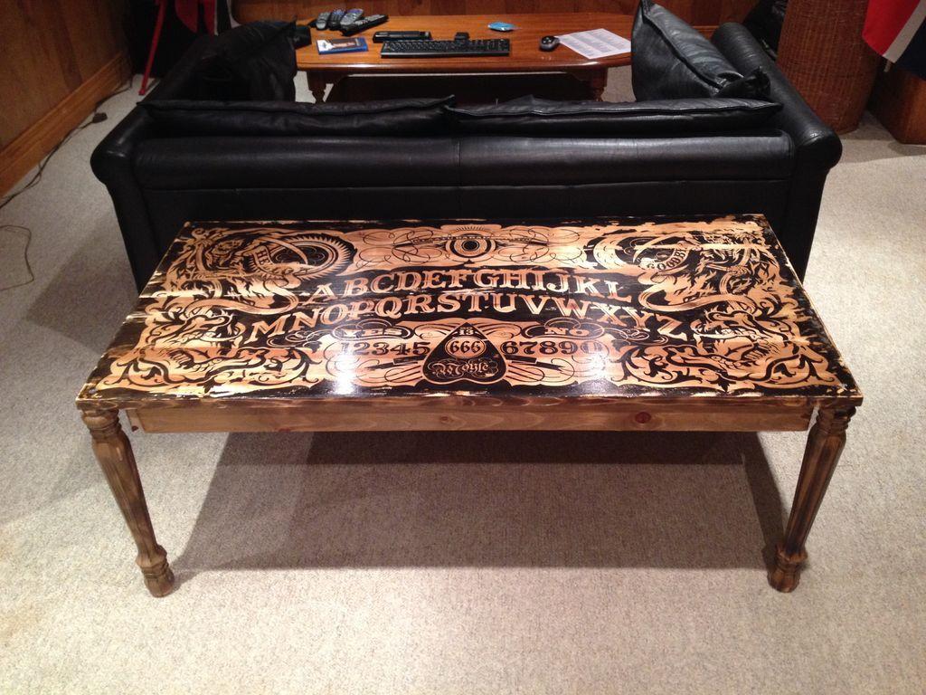 DIY ouija coffee table!!