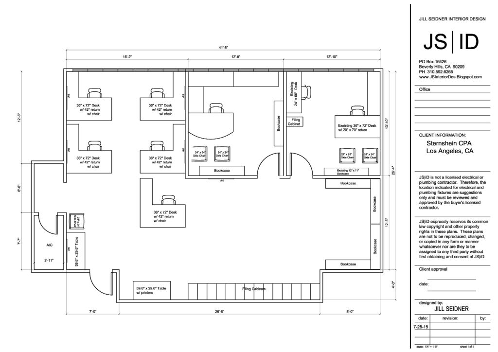 West LA, CA Commercial Office Furniture Space Planning