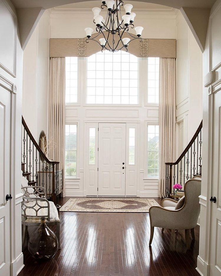 Foyer Window Treatment Idea.