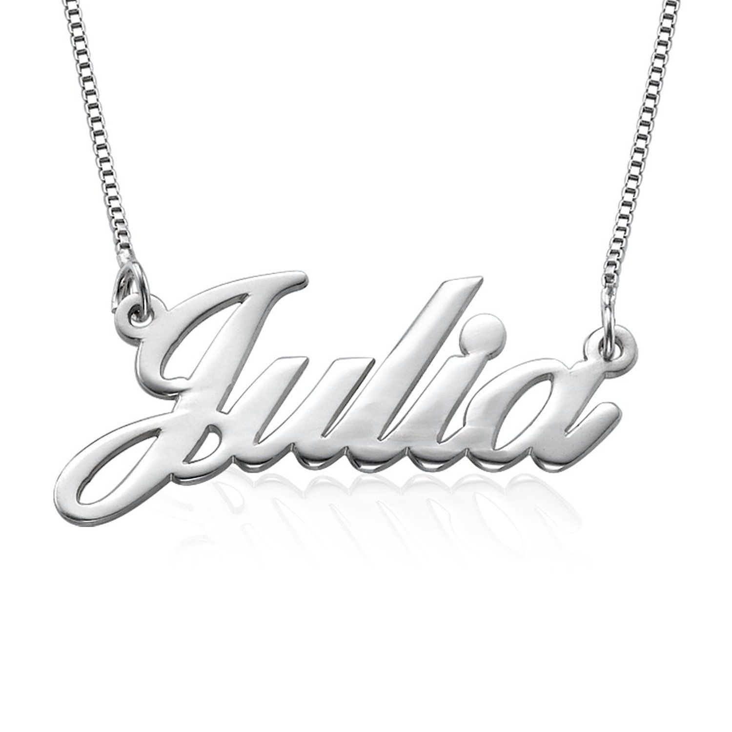 sterling silver personalized name necklace custom made with