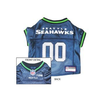 Pets First Seattle Seahawks NFL Dog Jersey - Large  37ac4fc1c