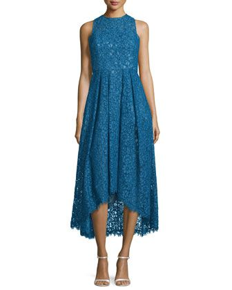 Sleeveless Lace High Low Dress By Shoshanna At