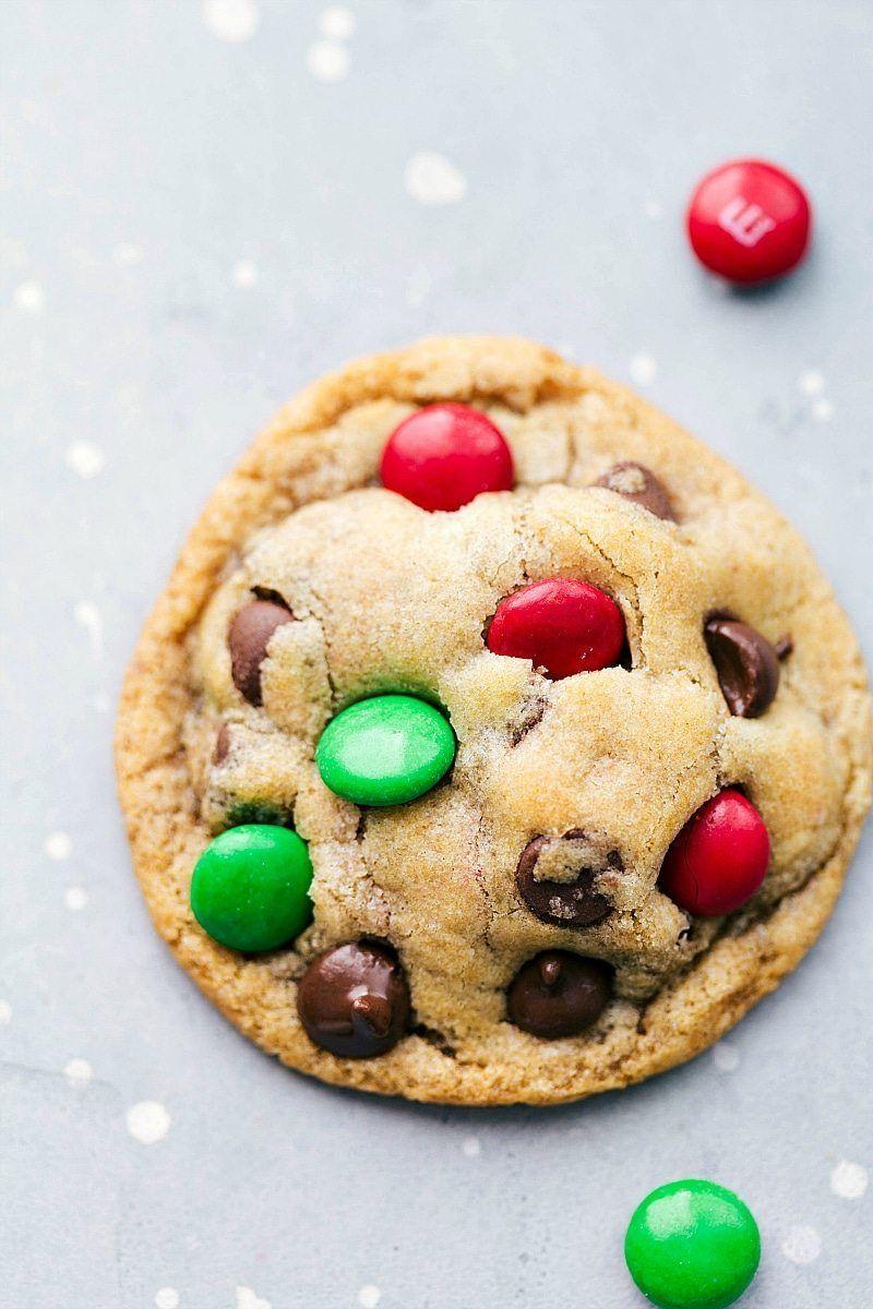 Christmas Mason Jar Desserts: M&M Christmas Cookies. Free printable ...