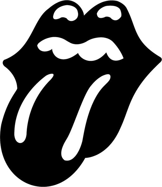 The Rolling Stones Tongue Rolling Stones Logo Rolling Stones Silhouette Stencil