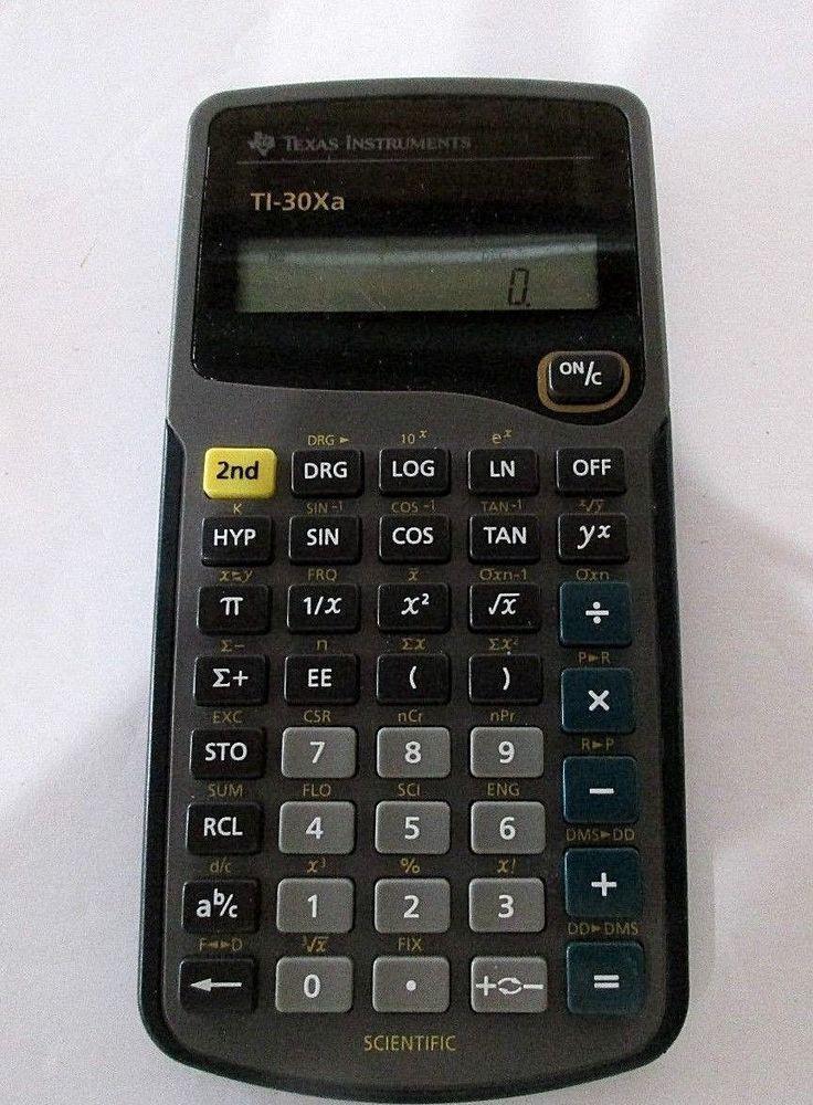 Texas Instruments Ti 30xa Solar School Edition Scientific Calculator
