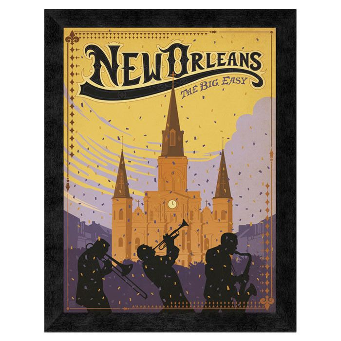 New Orleans, The Big Easy Wall Art | Retro Postcards | Pinterest ...