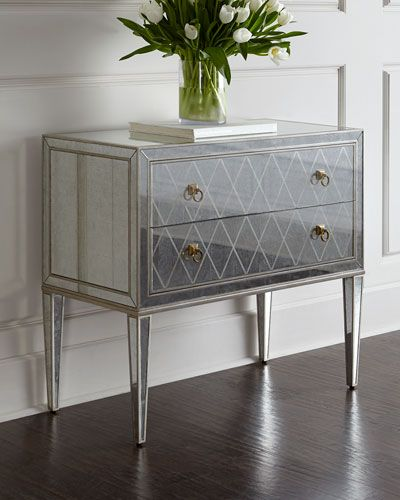 H7sll Candice Olson Blakely Mirrored Chest Chest Furniture