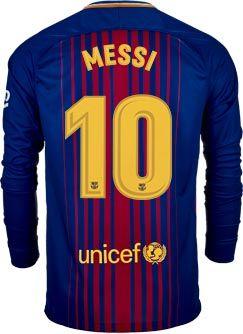 e5e2f615 Nike Lionel Messi Barcelona L/S Home Jersey 2017-18 | SoccerMaster.com