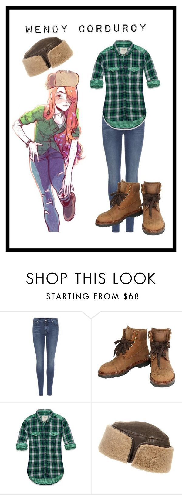 """""""Wendy Corduroy"""" by emily-abella on Polyvore featuring 7 For All Mankind, Chanel, Abercrombie & Fitch and Overland Sheepskin Co."""