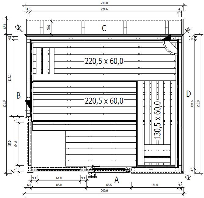 grundriss saunahaus sun sauna im garten pinterest grundrisse gartensauna und saunas. Black Bedroom Furniture Sets. Home Design Ideas