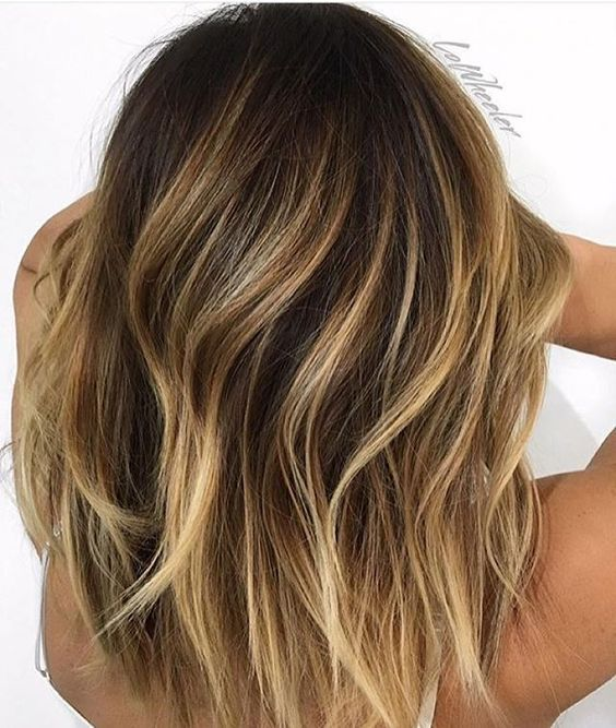 Highlights braune haare blonde Ombre Blond