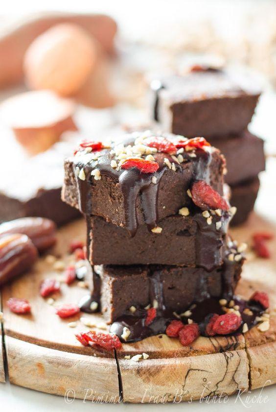Susskartoffel Brownies Vegan Glutenfrei Zuckerfrei Mit Datteln