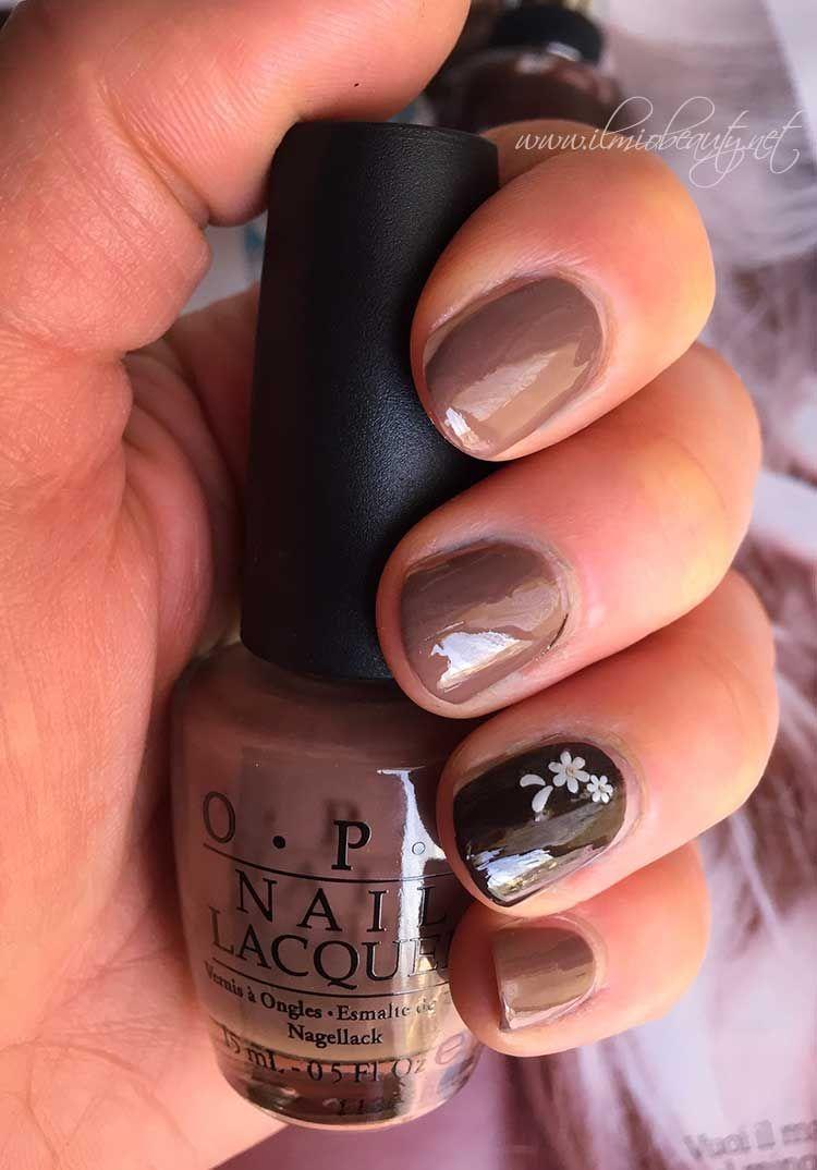 Notd: accent manicure taupe e cioccolato