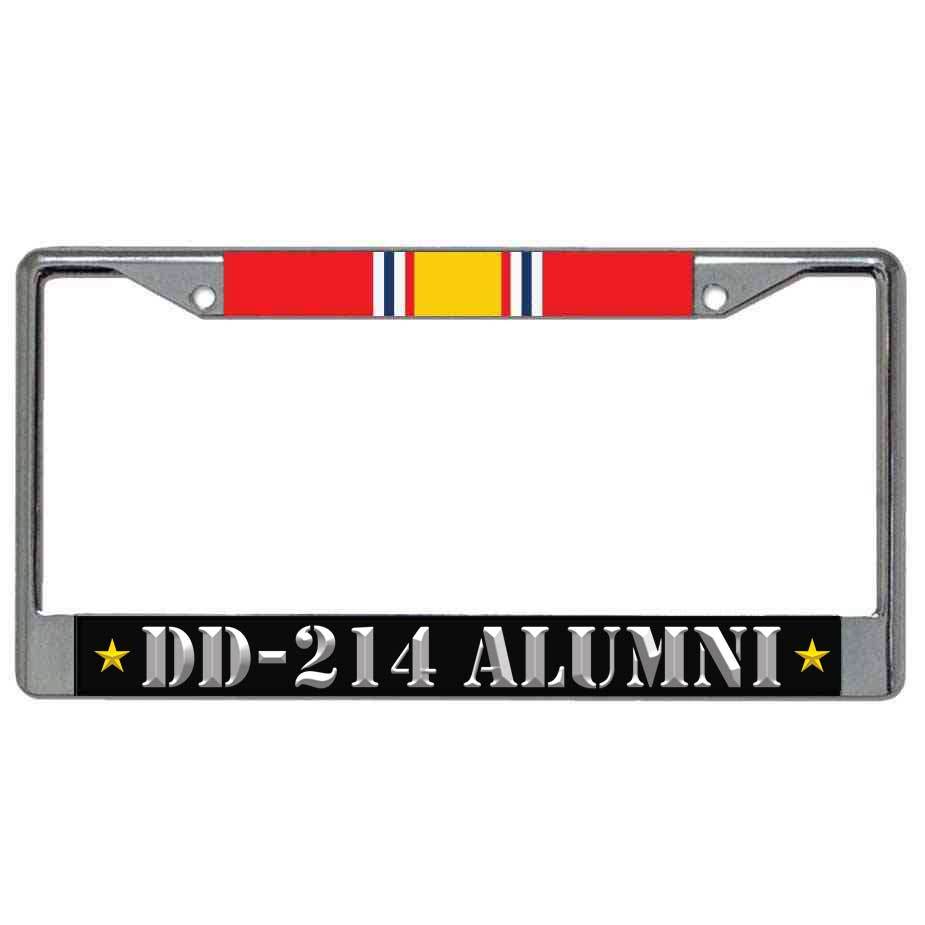 US Veteran License Plate Frame DD214 Alumni and