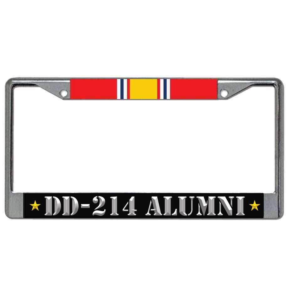 US Veteran License Plate Frame DD214 Alumni and