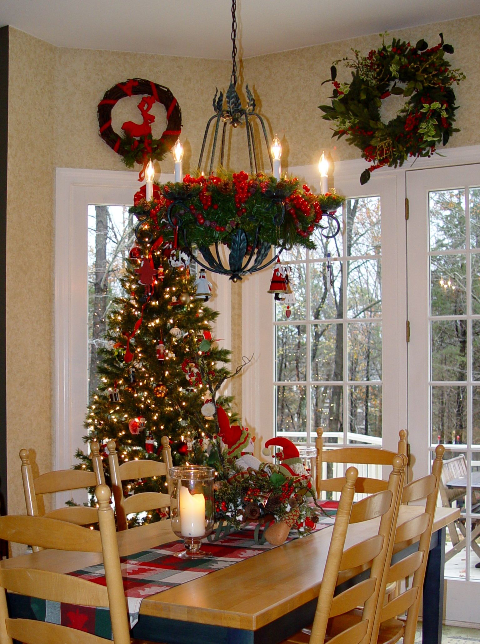 Holiday decor christmas decorations christmas treewrought iron holiday decor christmas decorations christmas treewrought iron chandelier with greeneryhanging mozeypictures Image collections