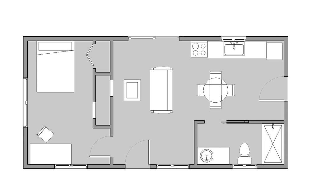 Reclaimed space 16x32 floor plan 512 sqft small for 16x32 cabin floor plans