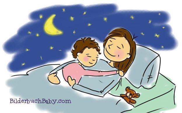 Mama Und Kleinkind Kuscheln Und Schlafen Kleinkind Mama