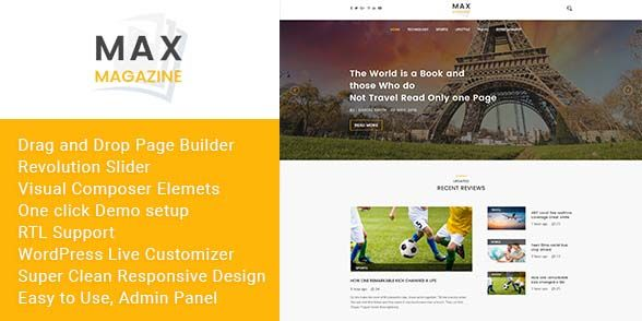 max magazine wordpress theme | wordpress | Pinterest