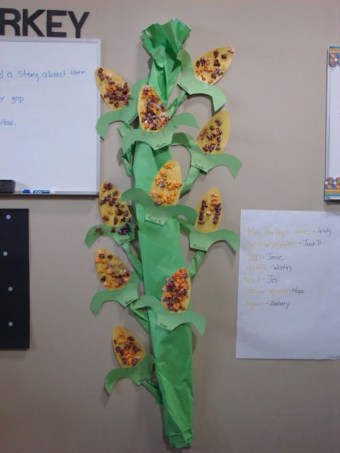 Cornstalk! Children glue down template and use either fall color ...