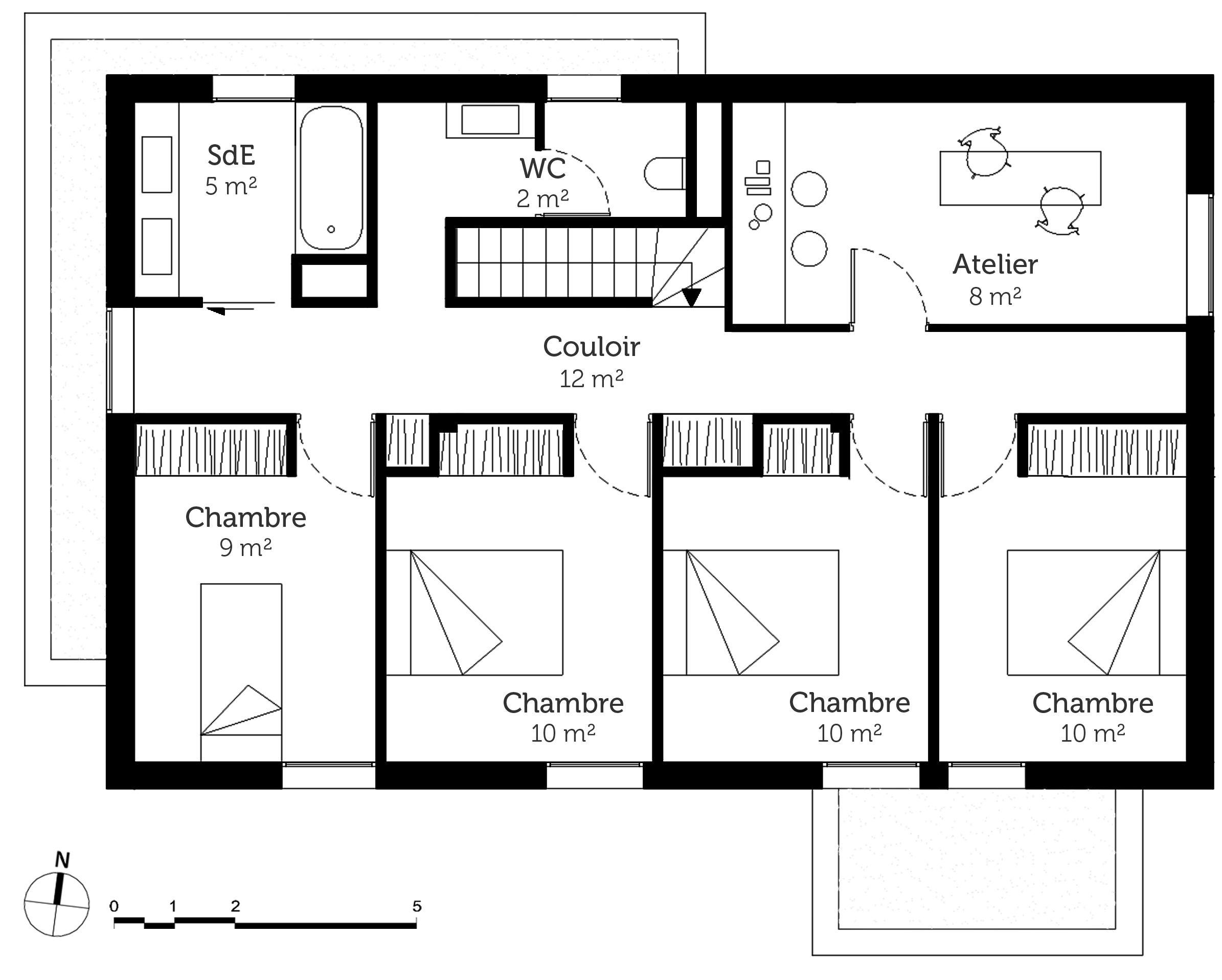 Plan Maison Plain Pied 4 Chambres En L Plan Maison Plain Pied Plan Maison Plan Maison 4 Chambres