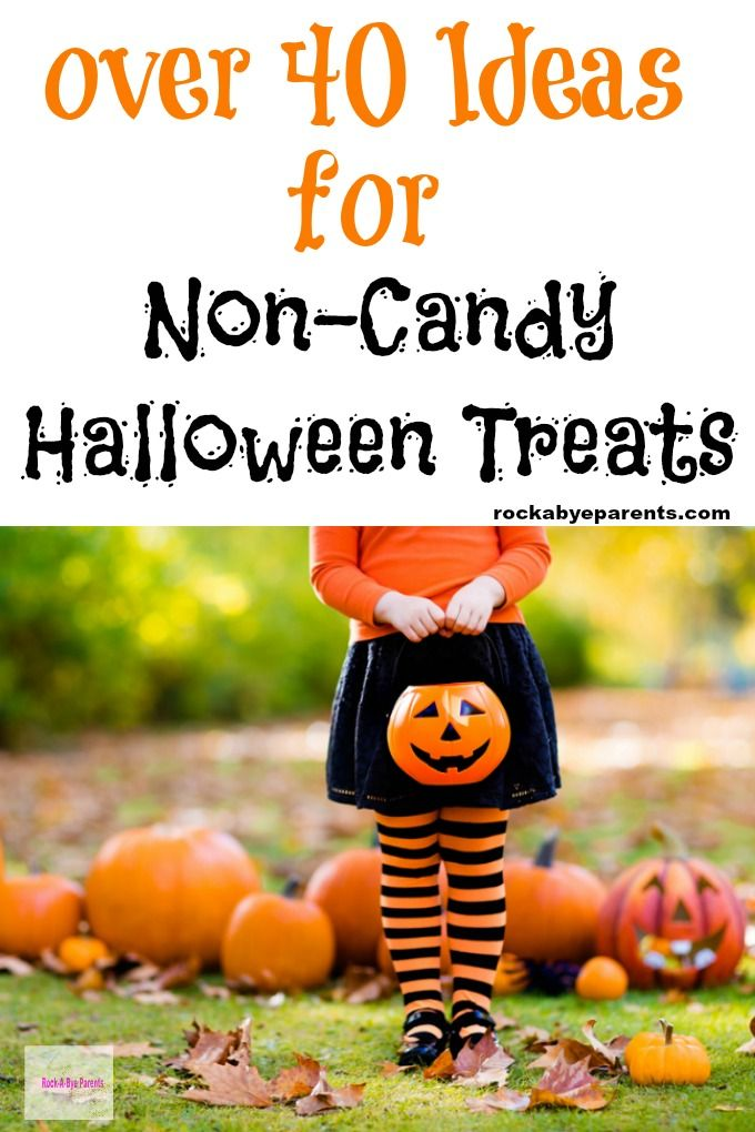 Non-Candy Halloween Treats - Over 40 Different Ideas School