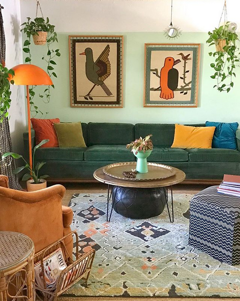 Green And Orange Living Room In 2020 Living Room Orange Orange Home Decor Green Home Decor