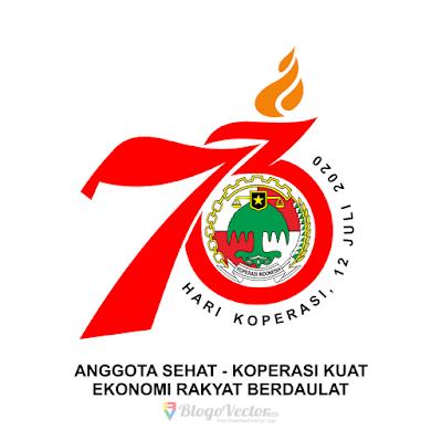 Hari Koperasi Ke 73 2020 Logo Vector Vector Logo Logos Custom Logos