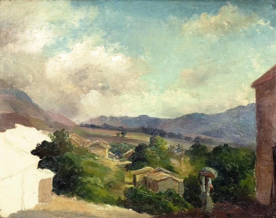 Mountain Landscape at Saint Thomas, Antilles (unfinished) - Camille Pissarro. 1854/5