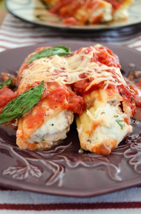 Parmesan Chicken Manicotti