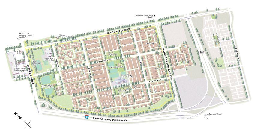 Villages of Irvine maps (California, US) on Behance   Irvine ...