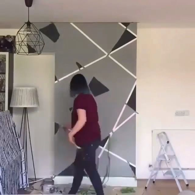 Faux Painting with Tape