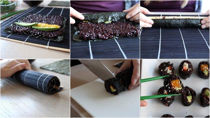 Vegan sushi door de Tofu Twins. Recept: http://www.tofutwins.nl/recepten/vegan-sushi/