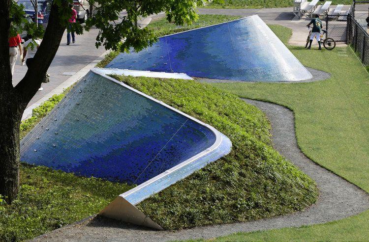 Landwave Public Art Boston Ground Inc Landscape Plaza Landscape Walls Landscape Features