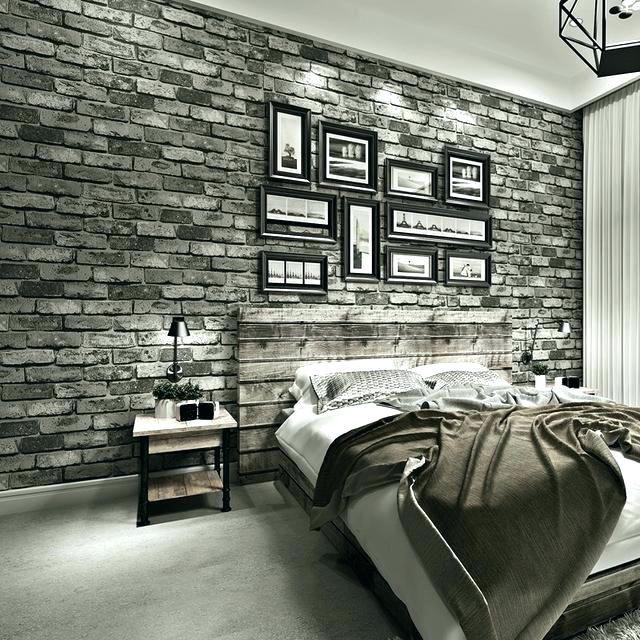 Cozy Brick Wallpaper Bedroom Brick Wallpaper Bedroom Stereo Imitation Brick Wallpaper Modern Vintage N Brick Wallpaper Bedroom Brick Wall Bedroom Brick Bedroom Black brick wallpaper bedroom ideas
