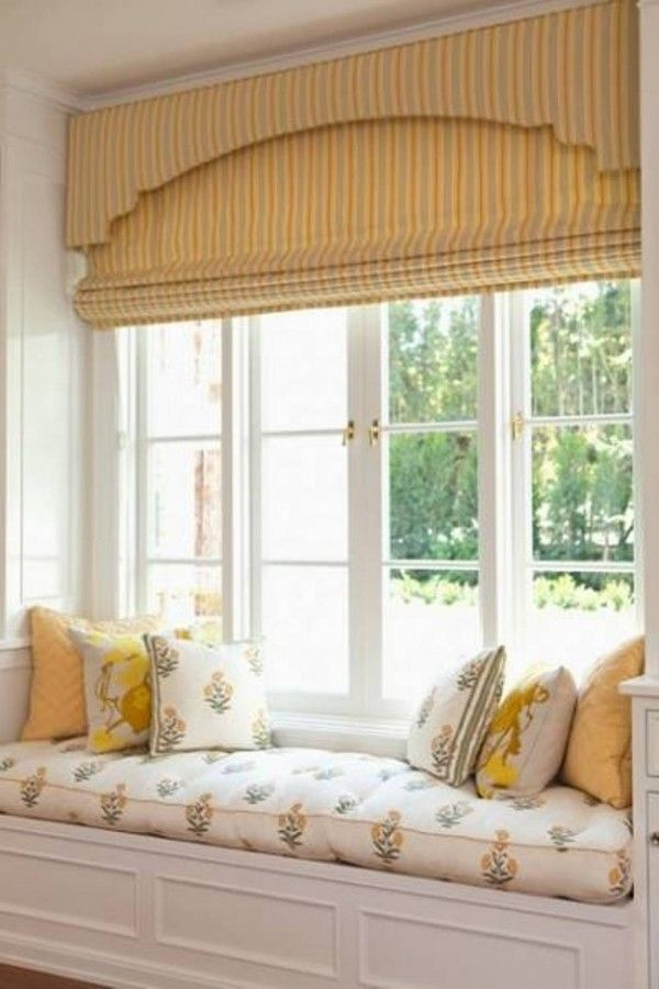 Window seat treatment This site refers to this as a bay window but